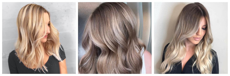 Брондирование на русых волосах